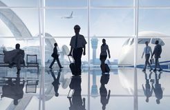 Group People Airport Flight Communication Concept Royalty Free Stock Photo