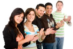 Group of people applauding Royalty Free Stock Photo