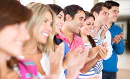Group of people applauding Stock Photography