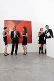 Group of people in art art gallery Stock Image
