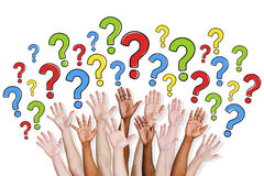Group of People Asking Questions.  Stock Photography