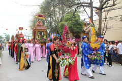 Group of people attending traditional festivals Stock Photography