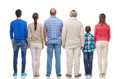 Group of people from back Royalty Free Stock Photo