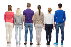 Group of people from back Stock Images