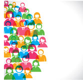 Group of people background Stock Photo