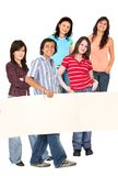 Group of people with a banner Stock Photos