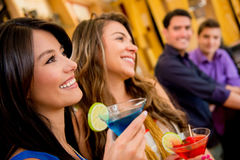 Group of people at the bar Stock Photography