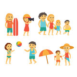 Group of People on the Beach Royalty Free Stock Photo