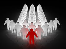 Group of people being led by a leader Royalty Free Stock Images