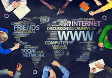Group of People Blackboard Internet Concept Stock Images