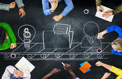 Group of People Blackboard Internet Concept Royalty Free Stock Images