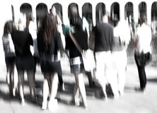 Group of people, blurred Stock Photo