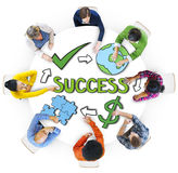 Group of People Brainstorming with Success Royalty Free Stock Photography