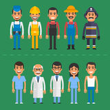 Group people builder doctor nurse fireman farmer Royalty Free Stock Photography