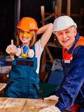 Group people in builder uniform Royalty Free Stock Photos