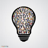 Group of people in bulb. Stock Image