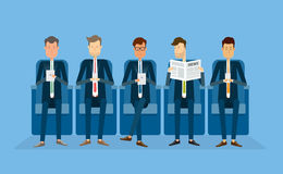 Group people business.business cartoon character Royalty Free Stock Photo