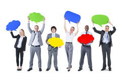 Group of People in Business Communication Royalty Free Stock Photo