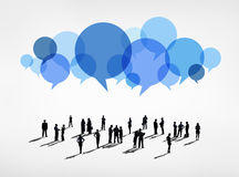 Group of People in Business Communications Royalty Free Stock Images