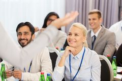 Group of people at business conference or lecture Royalty Free Stock Images