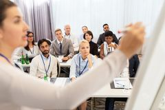 Group of people at business conference or lecture Royalty Free Stock Image