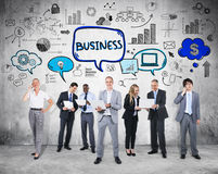 Group of People with Business Discussion Royalty Free Stock Photography