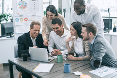 Group of people business meeting team work concept. Group of young people having business meeting work together Stock Photography