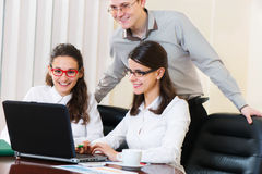 Group of people on business presentation Stock Image