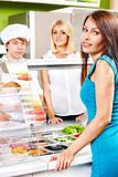 Group people at cafeteria. Royalty Free Stock Photography
