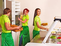 Group people at cafeteria. Stock Images