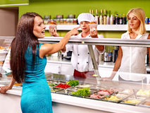 Group people at cafeteria. Stock Photography