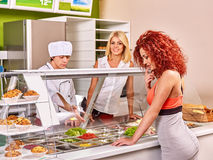 Group people at cafeteria Stock Photography