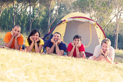 Group of People Camping royalty free stock photo