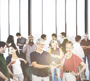 Group People Casual Community Diversity Talking Interaction Conc Stock Images