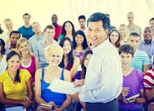 Group People Casual Lecture Teacher Speaker Notes Concept Royalty Free Stock Photography