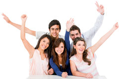 Group of people celebrating Stock Images