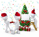 Group of people celebrating on christmas Royalty Free Stock Photography