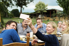 Group Of People Celebrating Concept stock images