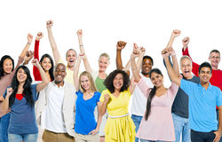 Group of People Celebrating Together Stock Photos