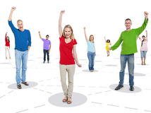 Group of People with Celebrations Stock Image