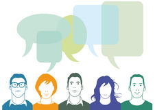 Group of people chatting Royalty Free Stock Images