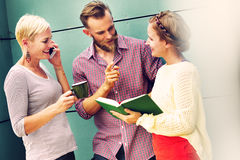 Group People Chatting Interaction Socializing Concept Royalty Free Stock Photography