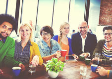 Group of People Cheerful Team Study Group Diversity Concept stock photo