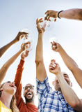 Group Of People Cheers Concept Stock Photos