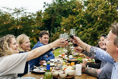 Group Of People Cheers Concept. Group Of People Cheers Toasting Stock Photos