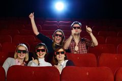Group of people in cinema Stock Photo