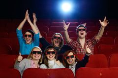Group of people in cinema Stock Photography