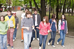 Group of people in city. Stock Photos