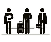 Group of people in the city. Vector illustration design Stock Photo