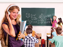 Group people in classroom Stock Photos